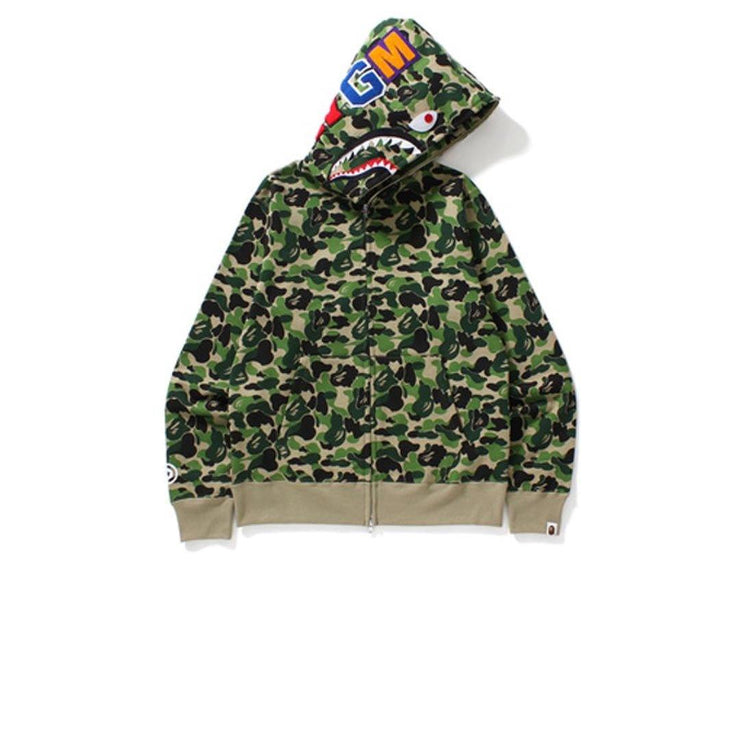 BAPE ABC Shark Full Zip Hoodie Green