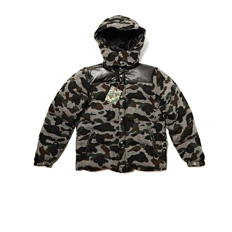 BAPE Ape Down winter wool tweed camo jacket - Rerun Toronto