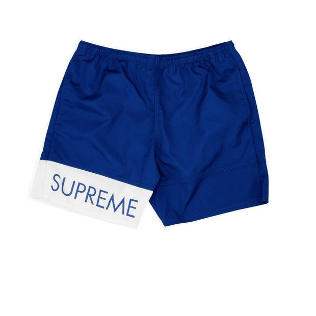 Supreme Blue Banner Shorts