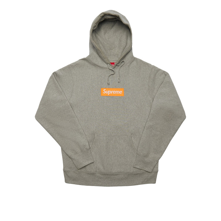 Supreme Box Logo Hooded Sweatshirt Grey/Orange (FW17)