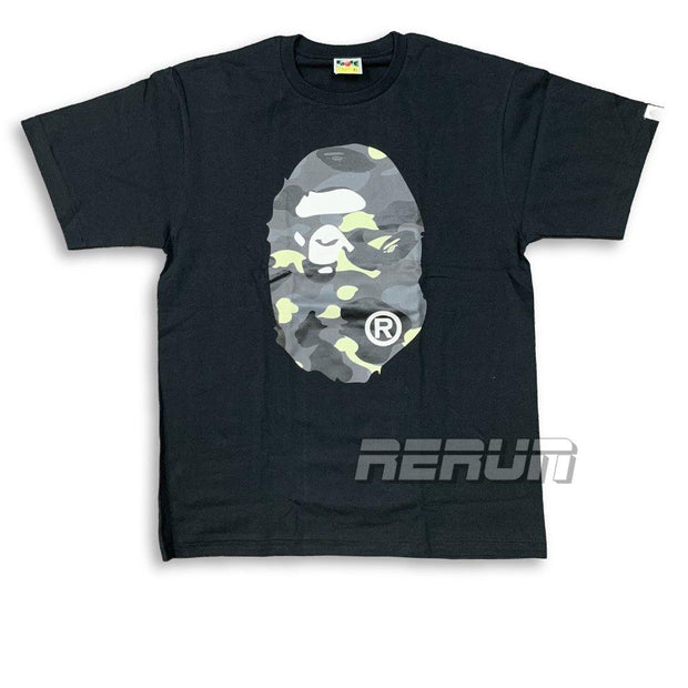 BAPE City Camo Big Ape Head Tee (Glow in Dark) - Rerun Toronto