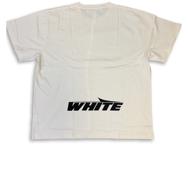 Off White Beige Text Tee