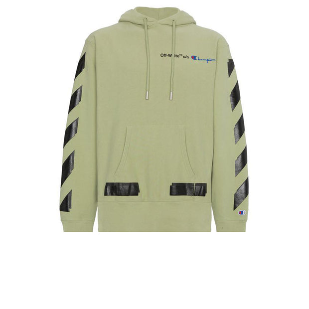 Off White Champion Hoodie Green