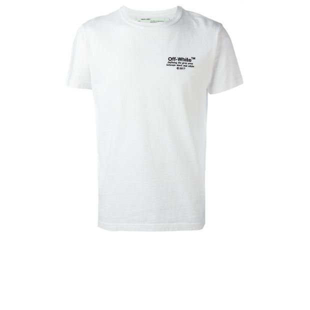 Off White Embroidered Chest Tee