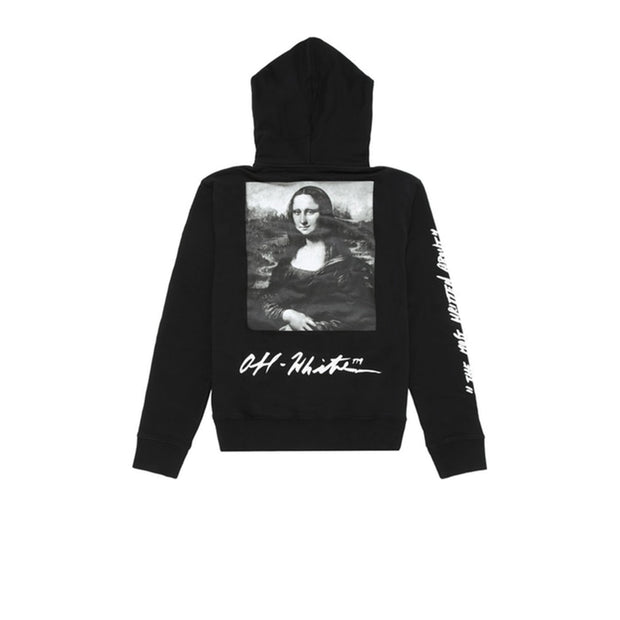 Off White Mona Lisa Hoodie Print black
