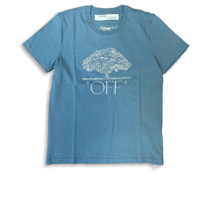 Off White Embroidered 'OFF' Tee