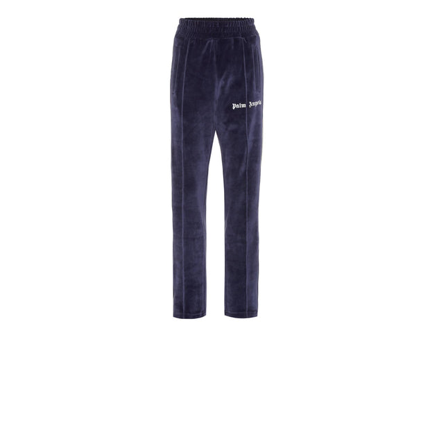 Palm Angels Blue Velvet Track Pants