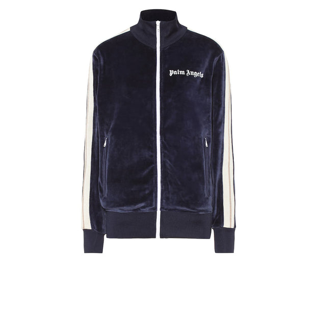 Palm Angels Blue Velvet Track Jacket