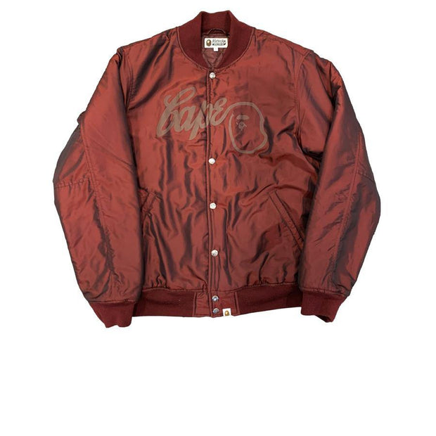 Bape Red Bomber Jacket