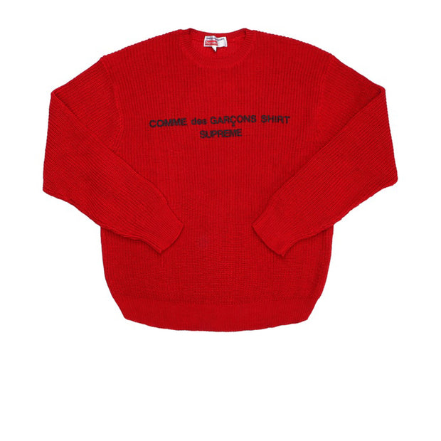 Supreme Comme des Garcons SHIRT Sweater Red
