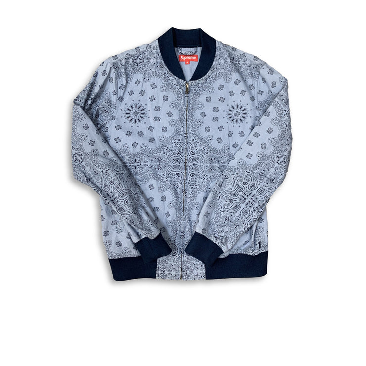 Supreme Paisley Denim Jacket Blue - Rerun Toronto