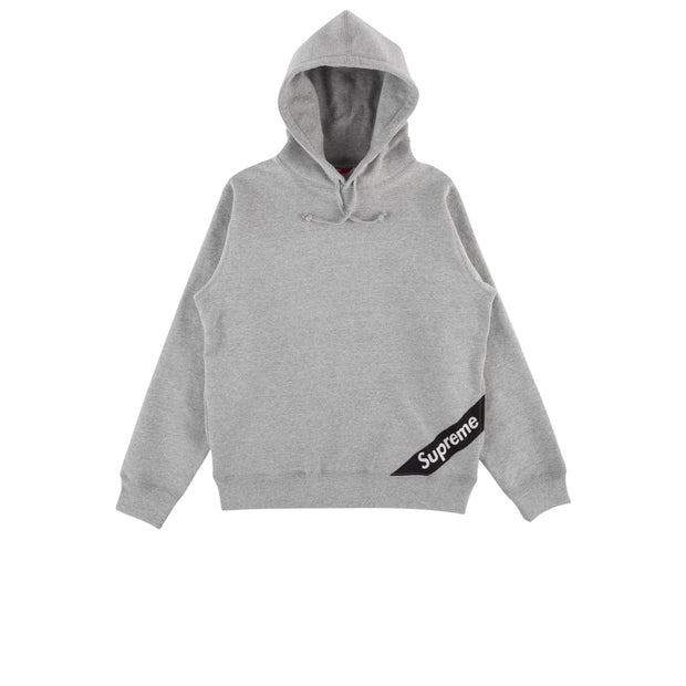 Supreme Corner Label Hooded Sweatshirt Grey
