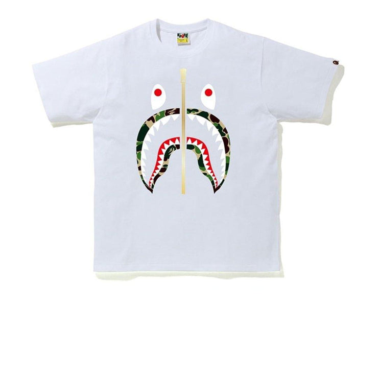 Bape ABC Green Camo Tee White