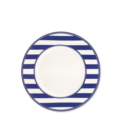 Blue Striped Salad Plate