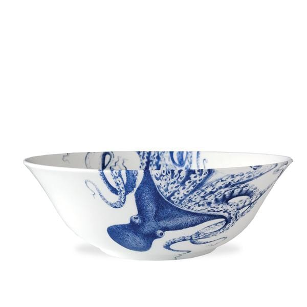 Blue Lucy Wide Serving Bowl