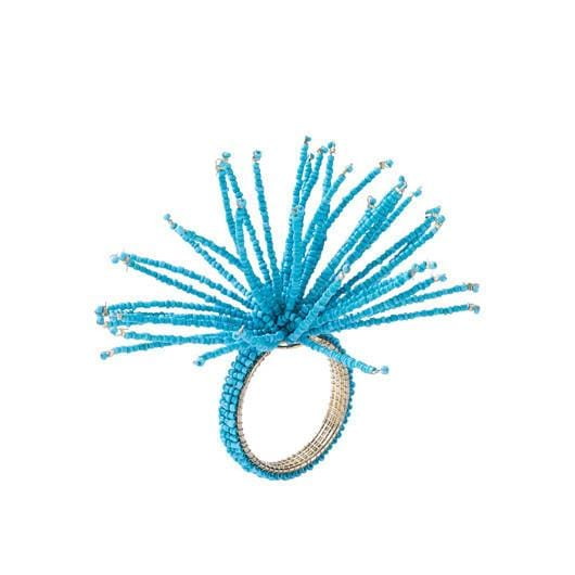 Spider Beaded Napkin Ring - Turquoise