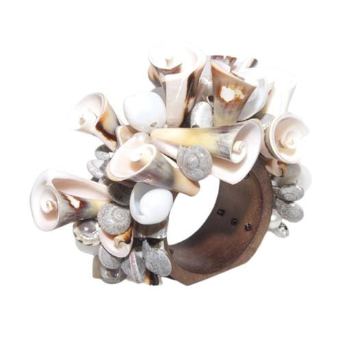 Natural Curly Shell Napkin Ring