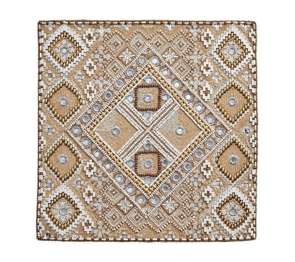 Luxor Beaded Placemat Naturtal/Ivory