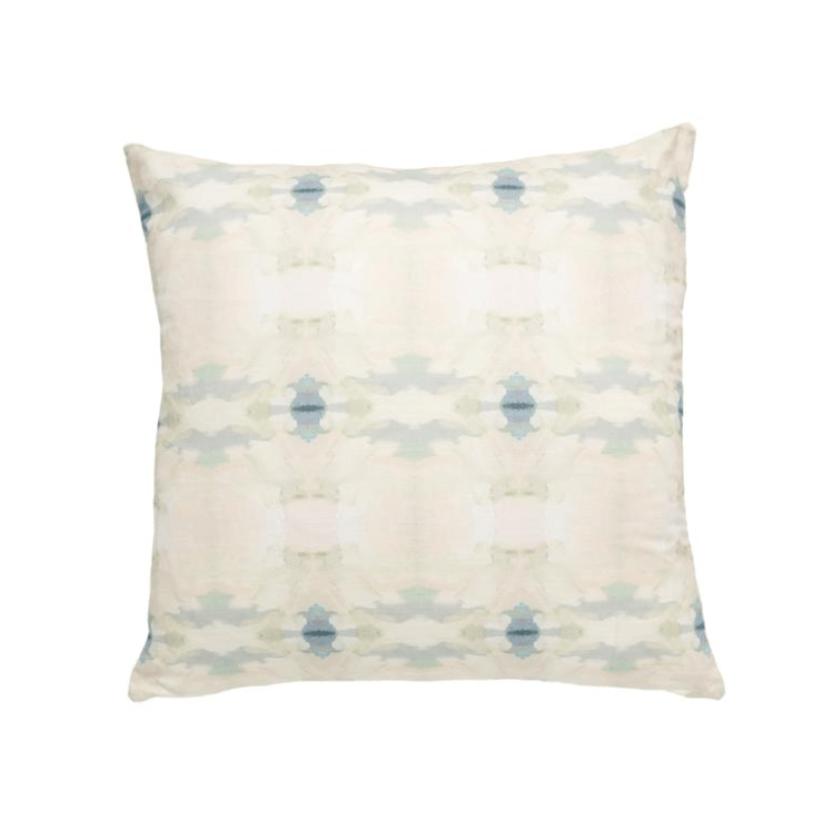 Coral Bay Pale Blue Linen Cotton Pillow