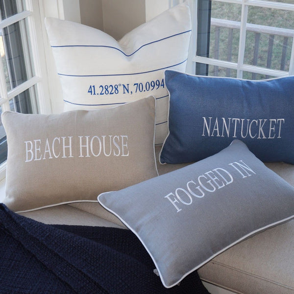 """BEACH HOUSE"" Linen Pillow"