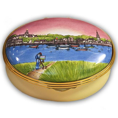 Nantucket Artist on the Harbor Pill Box
