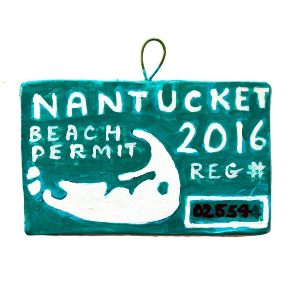 2016 Nantucket Beach Permit Ornament