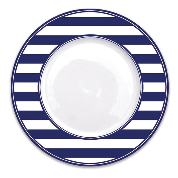 Blue Stripe Dinner Plate