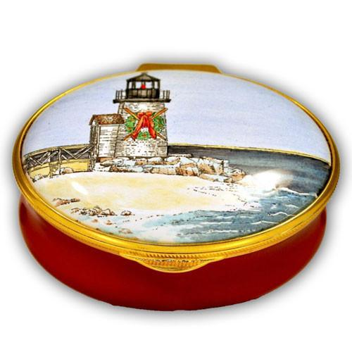 Brant Point Lighthouse Christmas Pill Box (Retired)