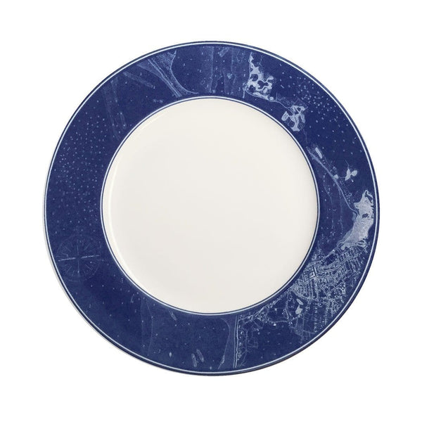 Chart Rimmed Salad Plate
