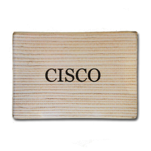 Cisco Decoupage Plate 3.5x5 - Natural Grass