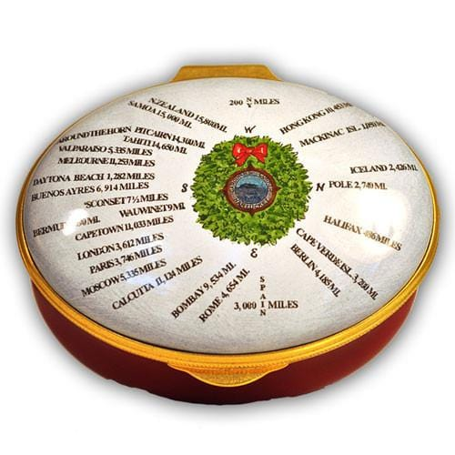Nantucket Christmas Compass Rose Pill Box (Retired)