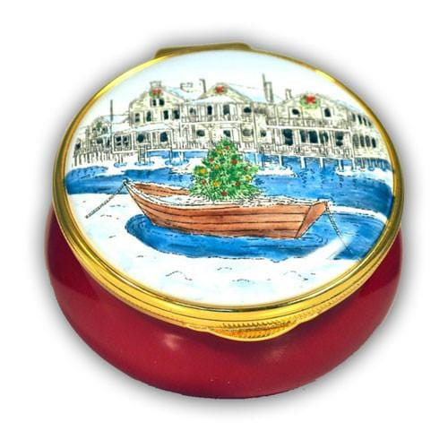 Nantucket Christmas Dory Pill Box (Retired)