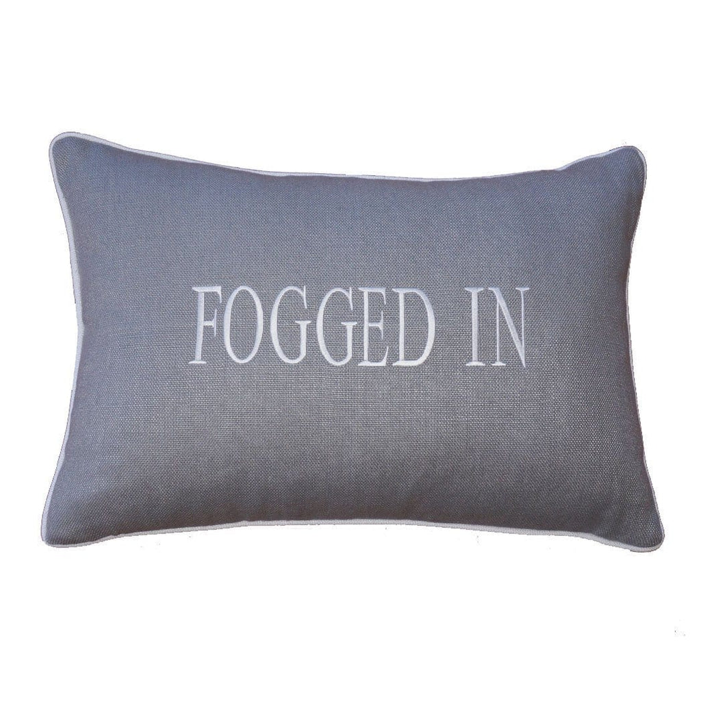 """FOGGED IN"" Linen Pillow"