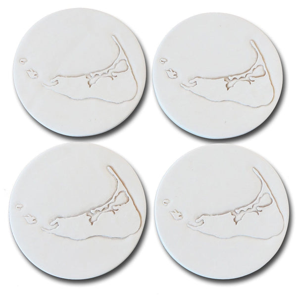 Nantucket Island Shape Coasters