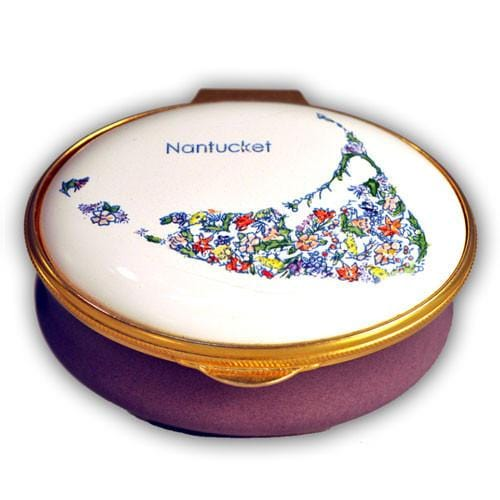 Nantucket Island Floral Pill Box (Retired)