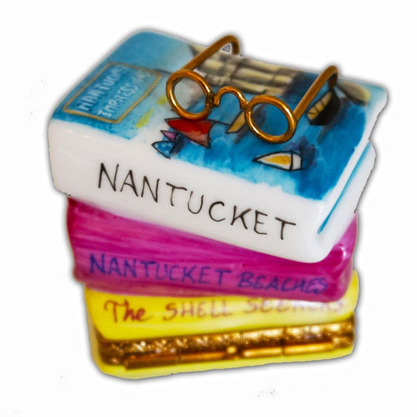 Nantucket Stacked Books Limoges Box
