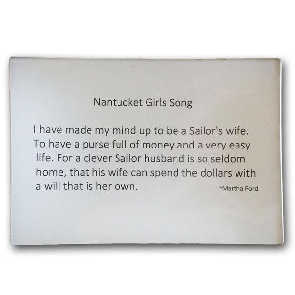 Nantucket Girls Song Decoupage Plate