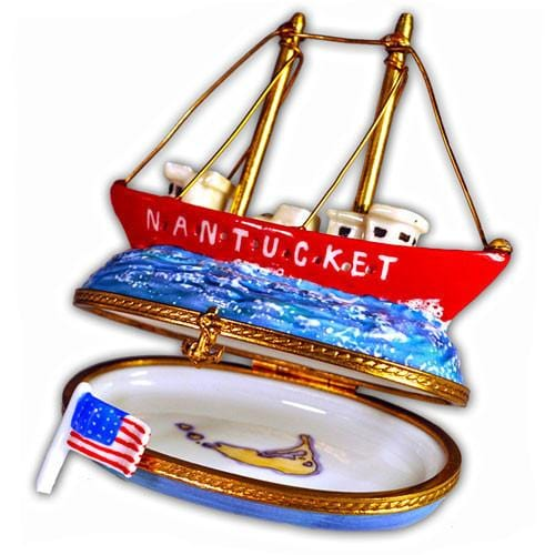 Nantucket Lightship Limoges Box