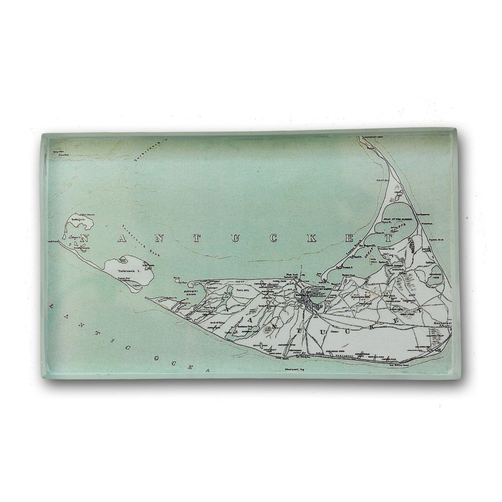 Antique Nantucket Map Paperweight