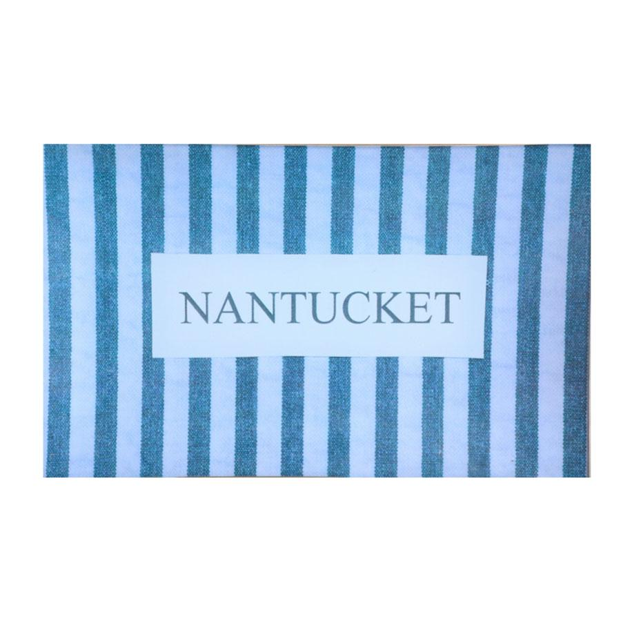 Nantucket Plate-5x8 Blue Seersucker