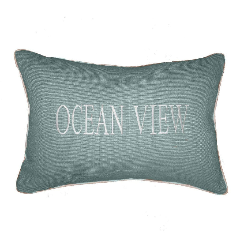 """OCEAN VIEW"" Linen Pillow"
