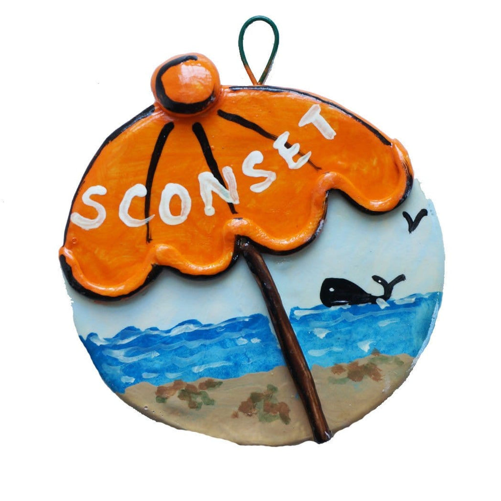Sconset Beach Umbrella Ornament 2012