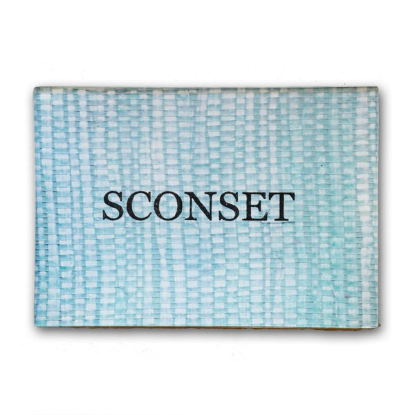 Sconset Decoupage Plate 3x5 - Blue/Green Arrowroot