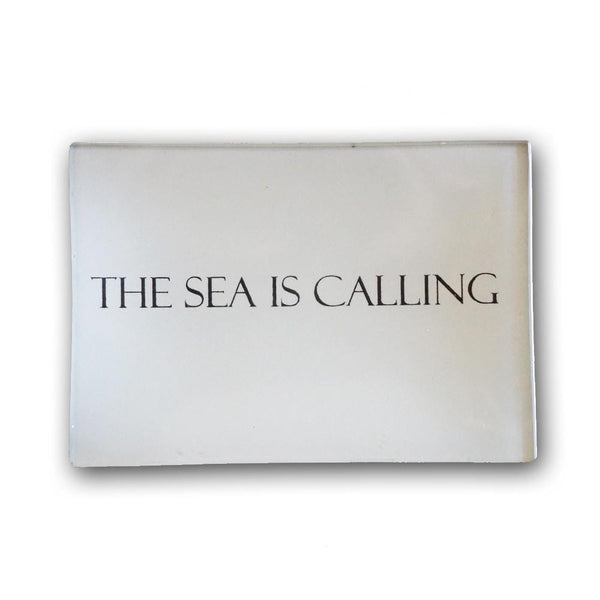 The Sea is Calling Decoupage Plate