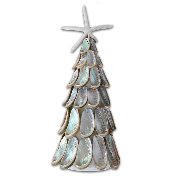 Silver Abalone Shell Holiday Tree
