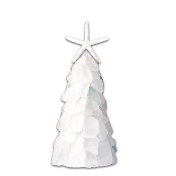 White Sea Glass Holiday Tree