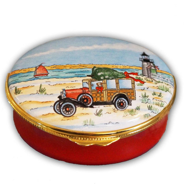 Christmas Nantucket Style Pill Box