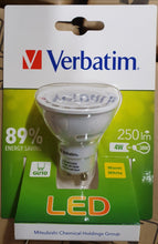 Last inn bildet i Galleriet, Verbatim LED GU10 4W  250lm - 4 pack