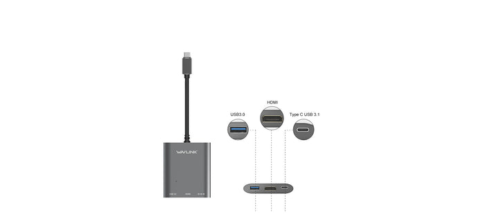 Wavlink USBC Gen 2 HUB with Power Delivery and HDMI