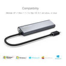 Last inn bildet i Galleriet, Wavlink USB-C to USB 3.0 4-Port Aluminum HUB